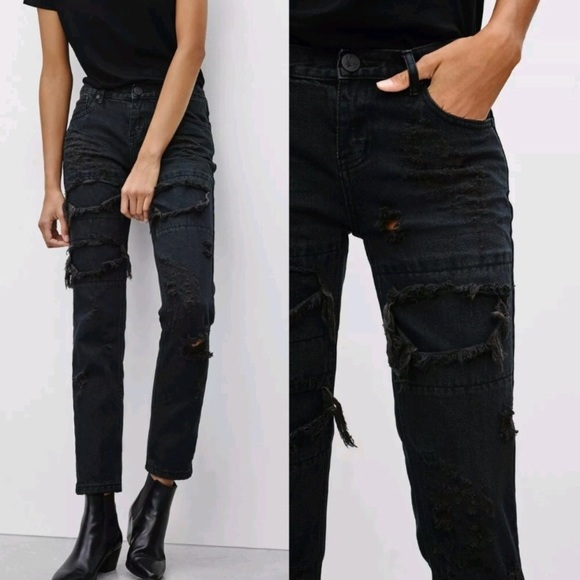 aee7e74fa69 One Teaspoon Awesome Baggies Fox Black Jeans EUC. M_5bc6110b34a4ef4ebbca8684